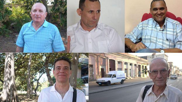 José Daniel Ferrer, Félix Navarro, Héctor Maseda, Jorge Olivera y Librado Linares