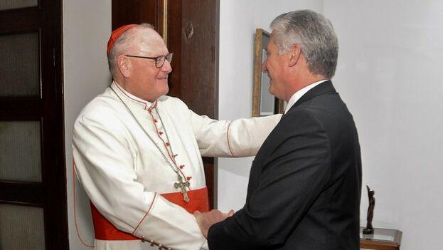 El arzobispo de Nueva York, Timothy Dolan, está invitado a la Isla por las autoridades políticas y religiosas. (presidencia Cuba)