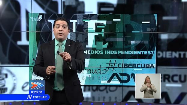 """A la reacción de muchos de los que fueron calificados por la televisión estatal de """"mercenarios"""", se suma la denuncia del Observatorio Cubano de Derechos Humanos (OCDH). (Captura)"""