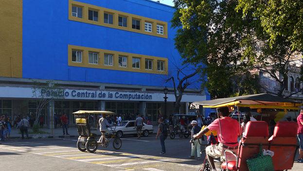 Palacio Central de la Computación frente al Parque de la Fraternidad (14ymedio)