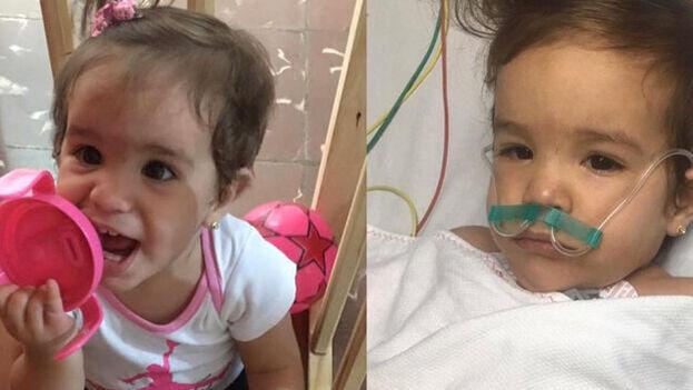 La pequeña Paloma Domínguez Caballero, quien falleció en octubre pasado tras ser vacunada en La Habana. (Cortesía)