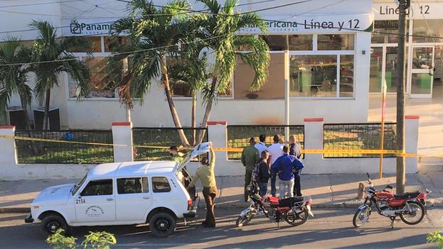 La tienda Panamericana de Línea y 12, ubicada en el barrio habanero El Vedado, fue vandalizada este domingo. (Twitter)