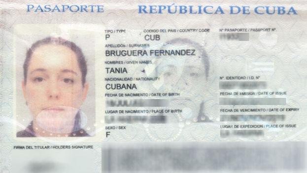 Pasaporte de Tania Bruguera. (Studio Tania Bruguera)