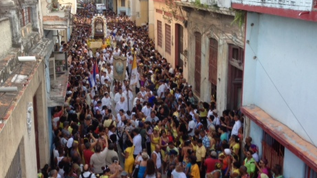 Peregrinación por la Virgen de la Caridad del Cobre en La Habana