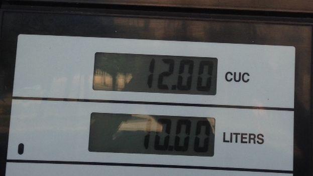 Precios de la gasolina regular (Foto 14ymedio)