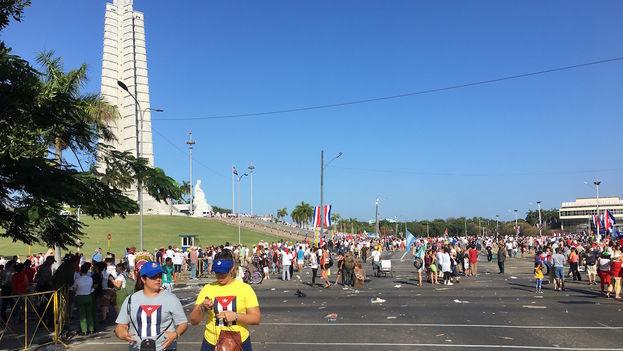 La marcha del 1 de mayo terminó en torno a las nueve de la mañana. (14ymedio)
