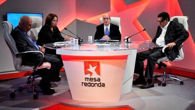 """Programa """"La Mesa Redonda"""" donde periodistas cubanos arremeten frecuentemente contra Estados Unidos. (CC)"""
