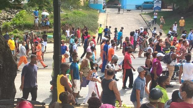 10. Protestas en Santiago de Cuba, este 11 de julio. (14ymedio)