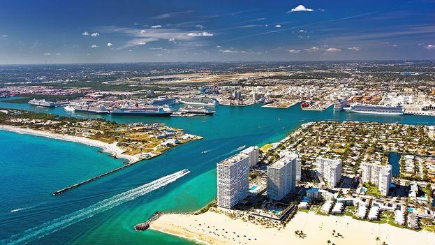 Puerto Everglades en Fort Lauderdale, Florida. (EFE)