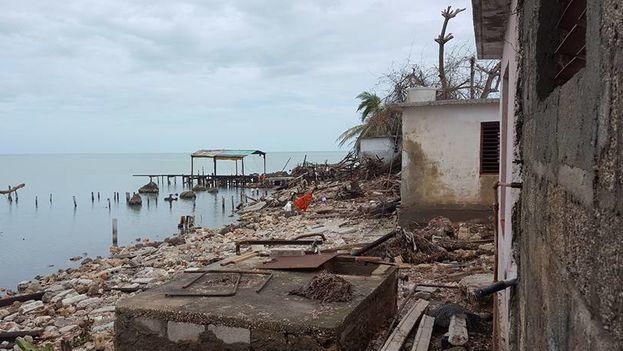 Los daños en Punta Alegre, Ciego de Ávila, donde el pueblo quedó asolado tras el paso del huracán Irma. (Lisbet Cuéllar)