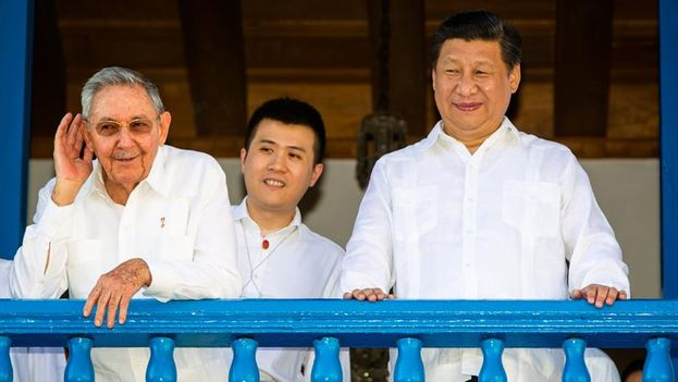 Raúl Castro y Xi Jinping en Santiago de Cuba. (EFE/Liu Bin)