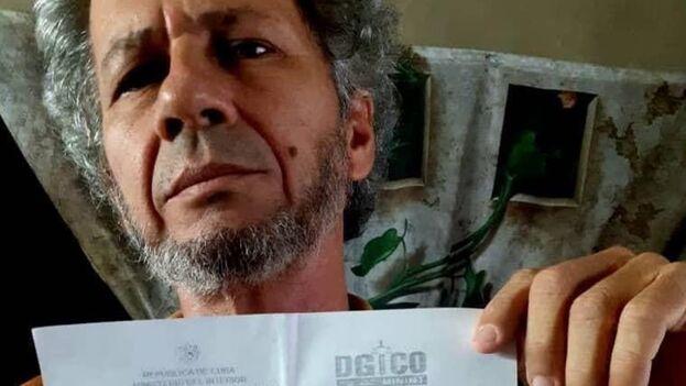 Rafael Vilches fue citado antes por la policía política cubana este domingo. (Facebook)