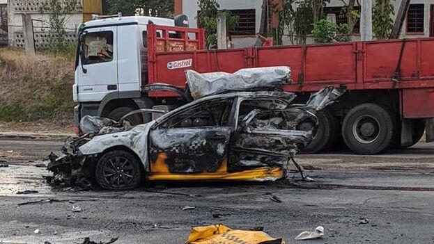 El accidente tuvo lugar cerca de la Refinería Ñico López. (Amed Hermano/Facebook)
