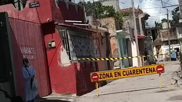 En la calle 15 del Reparto Luis Dagnes,  Santiago de Cuba, se han confirmado tres casos positivos por covid-19. (14ymedio)