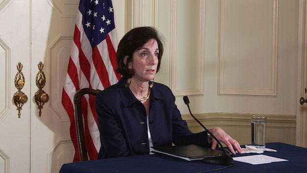 Roberta Jacobson durante su conference de prensa en La Habana (Luz Escobar)