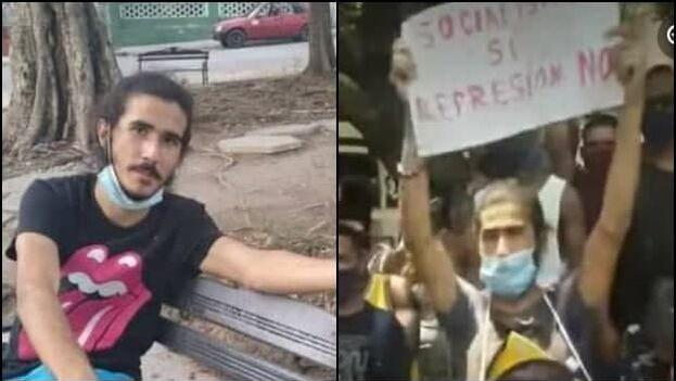 Romero Negrín se encontraba a la espera de un juicio por protestar el pasado 30 de abril en la calle Obispo. (Collage)