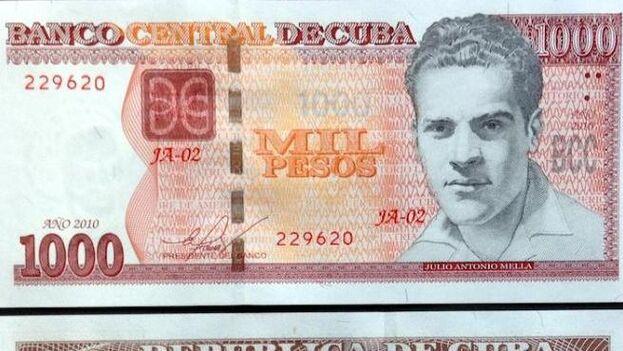 El anverso sustituye la imagen de Celia Sánchez por la de Frank País, Ignacio Agramonte y Julio Antonio Mella. (Granma)