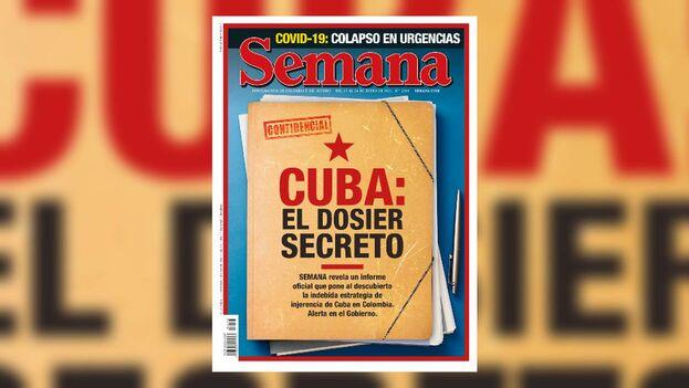 El 'dossier' publicado por la revista 'Semana' revela la manipulación e injerencia cubanas en los asuntos políticos internos de Colombia. (Captura)