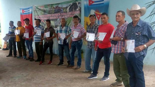 Varios obreros agropecuarios de Las Tunas recibieron reconocimientos del Sindicato Nacional de Trabajadores Forestales y Tabacaleros. (Tiempo21)