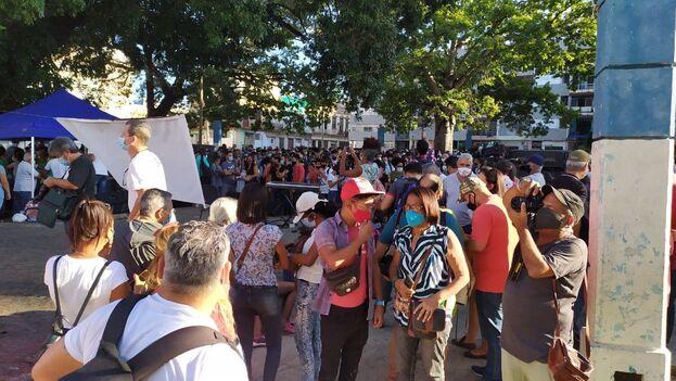 """El evento """"Tángana en el Trillo. Jóvenes por la democracia socialista"""" fue una demostración en respuesta a las recientes críticas de la comunidad artística cubana. (14ymedio)"""