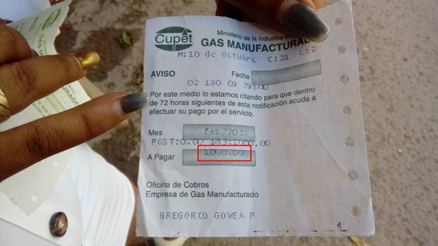 A partir del 1 de enero de 2021 y como parte de la Tarea Ordenamiento, el servicio de gas manufacturado pasó a costar de 0,11 pesos el metro cúbico a 2,50. (14ymedio)