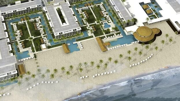 La construcción del hotel Meliá Trinidad Playa, en la península de Ancón, en Sancti Spíritus, ha alcanzado el 98% de ejecución. (ACN)