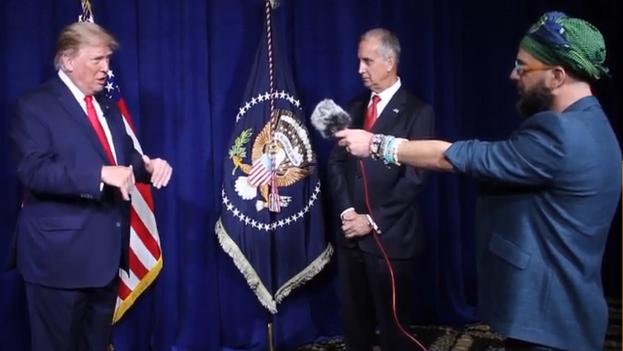 Trump a concedió la entrevista a Otaola en el club de golf Trump National Doral de Miami. (Captura)