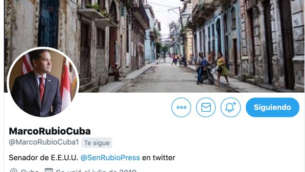 """Con su nueva cuenta de Twitter en español, Marco Rubio busca """"conectarse"""" directamente """"con el pueblo"""" de la Isla. (Captura/Twitter)"""