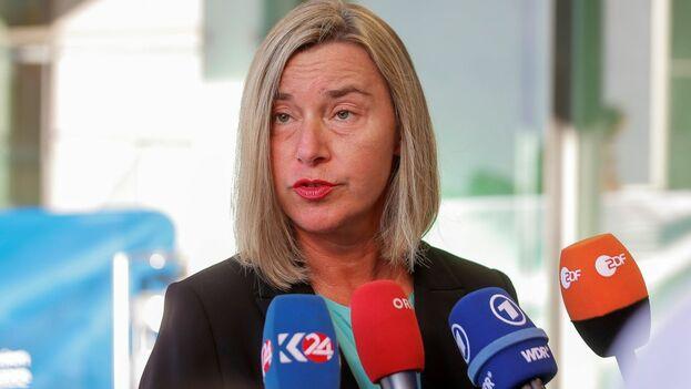 """""""Lo importante es que el proceso de Oslo no embarranque"""", dijo la alta representante de la UE para la Política Exterior, Federica Mogherini. (EFE)"""