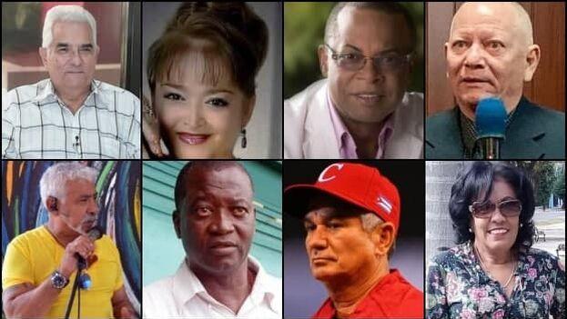 Varias personalidades cubanas en fallecido en los últimos meses a causa del covid-19. (Collage)