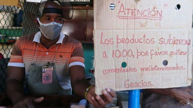 Vendedor de especias en La Habana, este jueves. (14ymedio)