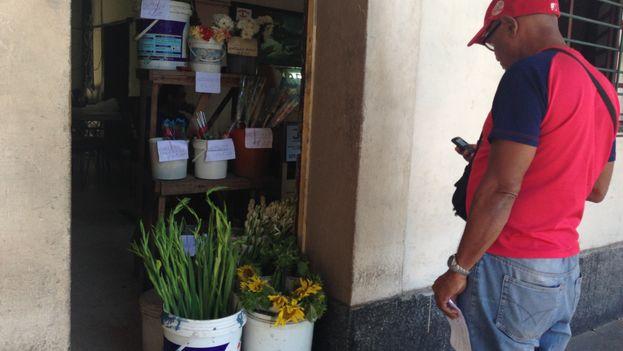 Vendedores ambulantes aprovechan la celebración del día del amor para promover sus productos. (14ymedio)