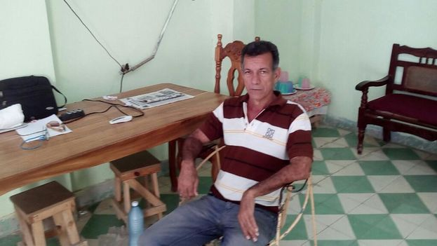 Vladimir Martín Castellanos, activista de la Unpacu en huelga de hambre. (Carlos Amel Oliva)