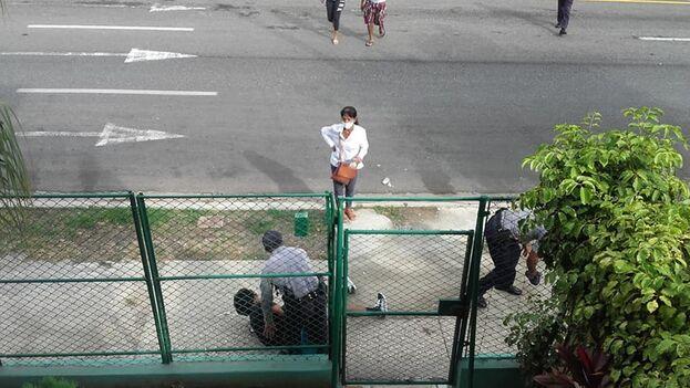 Wong Jiménez contó que recibió golpes dentro de la patrulla y en la estación policial. (Facebook)
