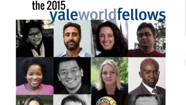 El grupo de Yale World Fellows de 2015, entre ellos la artista Tania Bruguera. (Yale University)