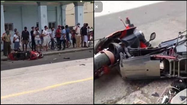 El accidente se produjo en la esquina de Ayestarán y Desagüe, en el municipio habanero de El Cerro. (14ymedio)