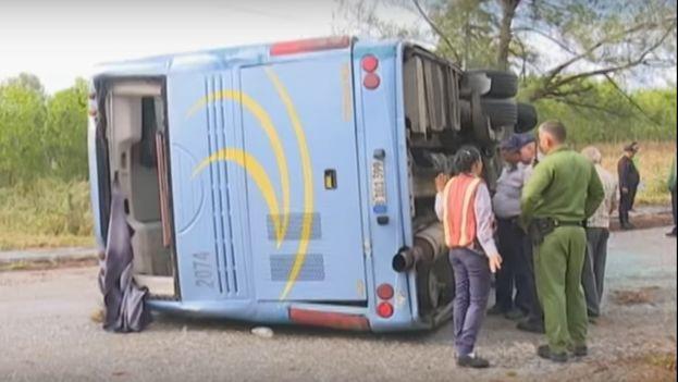 El accidente masivo de este jueves dejó 46 heridos, algunos de gravedad. (captura)