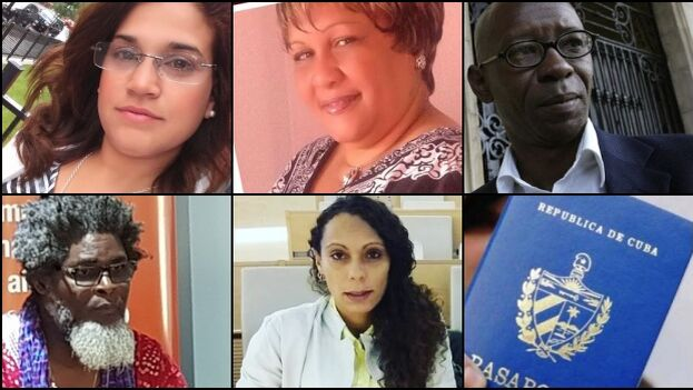 Los cinco activistas cubanos estaban invitados para participar en una presentación sobre la situación de los derechos humanos en el Parlamento Europeo. (Collage)