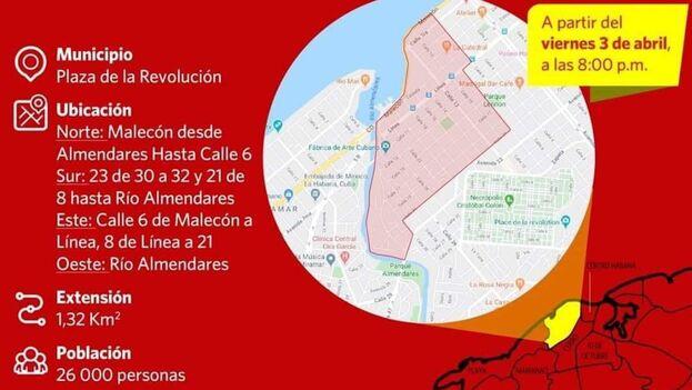 El aislamiento en esta zona de la capital comienza este viernes a las 8.