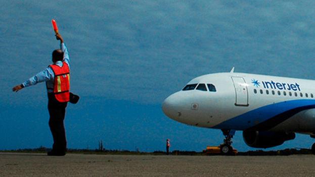 Un avión de Interjet.