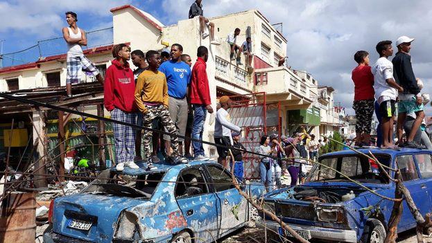 El barrio de Luyanó, uno de los más afectados por el tornado. (14ymedio)