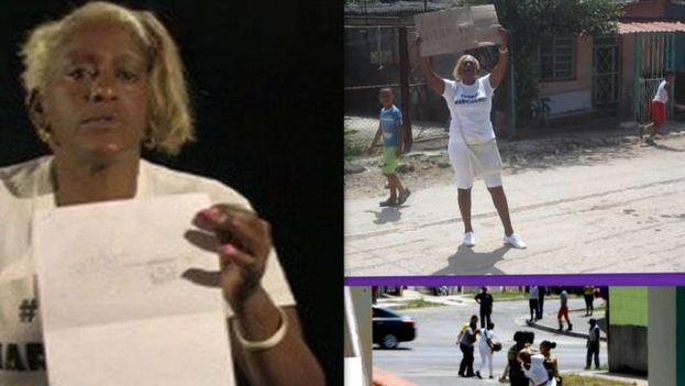 La dama de blanco Micaela Roll Gibert, de 53 años. (Martinoticias)