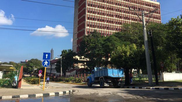 Una calle que había sido cerrada por el ministerio de transporte