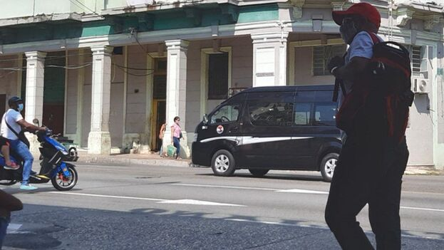 También en las calles habaneras se vieron muchos vehículos militares. (14ymedio)
