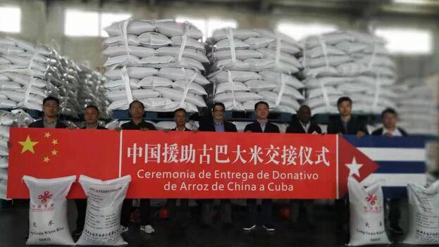El cargamento de arroz se enviará en las próximas semanas. (@EmbacubaChina)