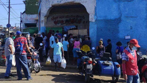 Las colas complican el control de la epidemia, especialmente en La Habana, donde la densidad de población es más elevada. (14ymedio)