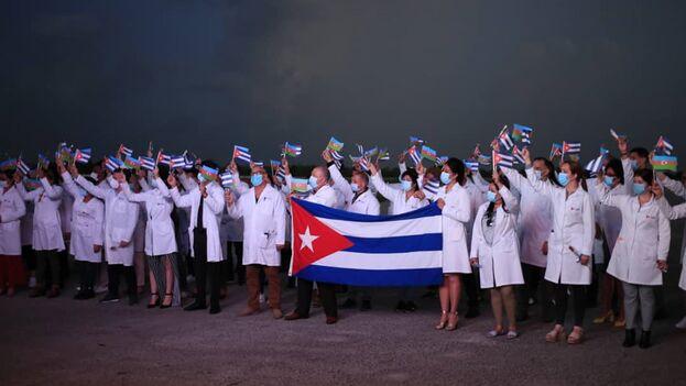 Este contingente llega a Cuba en un momento crítico, en el que los contagios siguen en ascenso. (Ministerio de Salud)