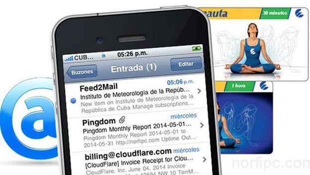 El uso del correo electrónico nauta está interrumpido en todo el país. (Twitter)