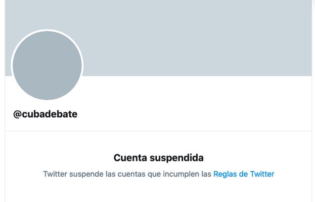 La cuenta de 'Cubadebate' la madrugada de este jueves.