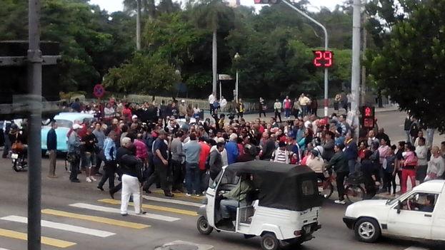 Concentración en La Habana para el día de los Derechos Humanos. (14ymedio)